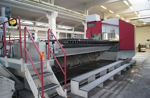 Hardox 500 sawing improved due to Damatech's R&D efforts